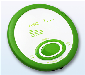 Green MP3 player mockup